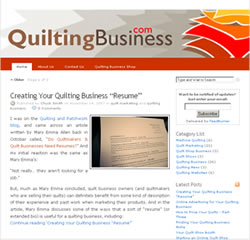 Quilting Business Blog